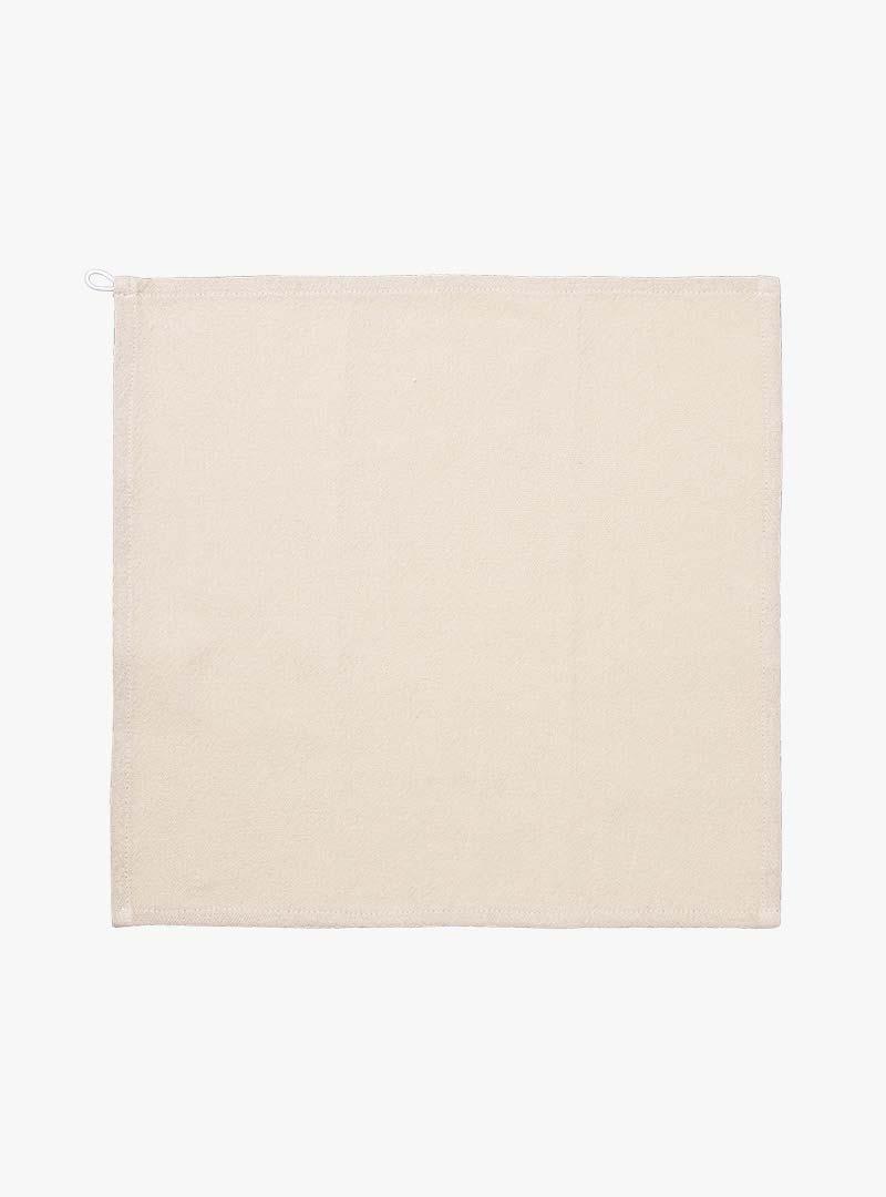 le tablier | beiges Abtrockentuch in quadratischer Form