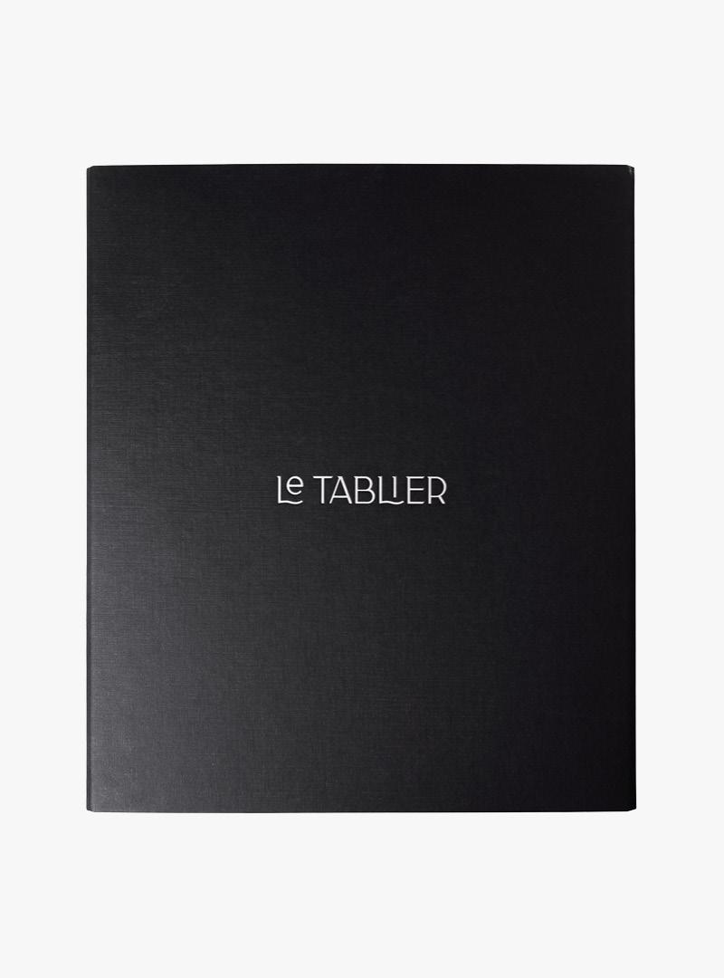 le tablier | schwarzes Rezeptbuch mit silberner Aufschrift