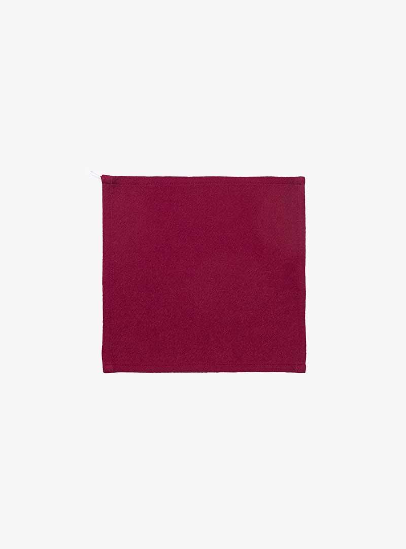 le tablier | rotes Abtrockentuch in quadratischer Form