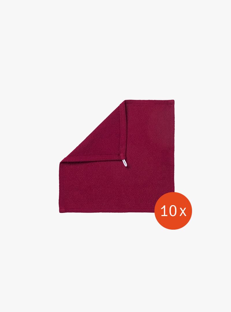 le tablier | ein rotes Abtrockentuch mit umgeschlagener Ecke