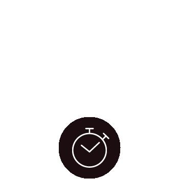 le tablier | Icon schwarz und weiß Uhr Zubereitungszeit