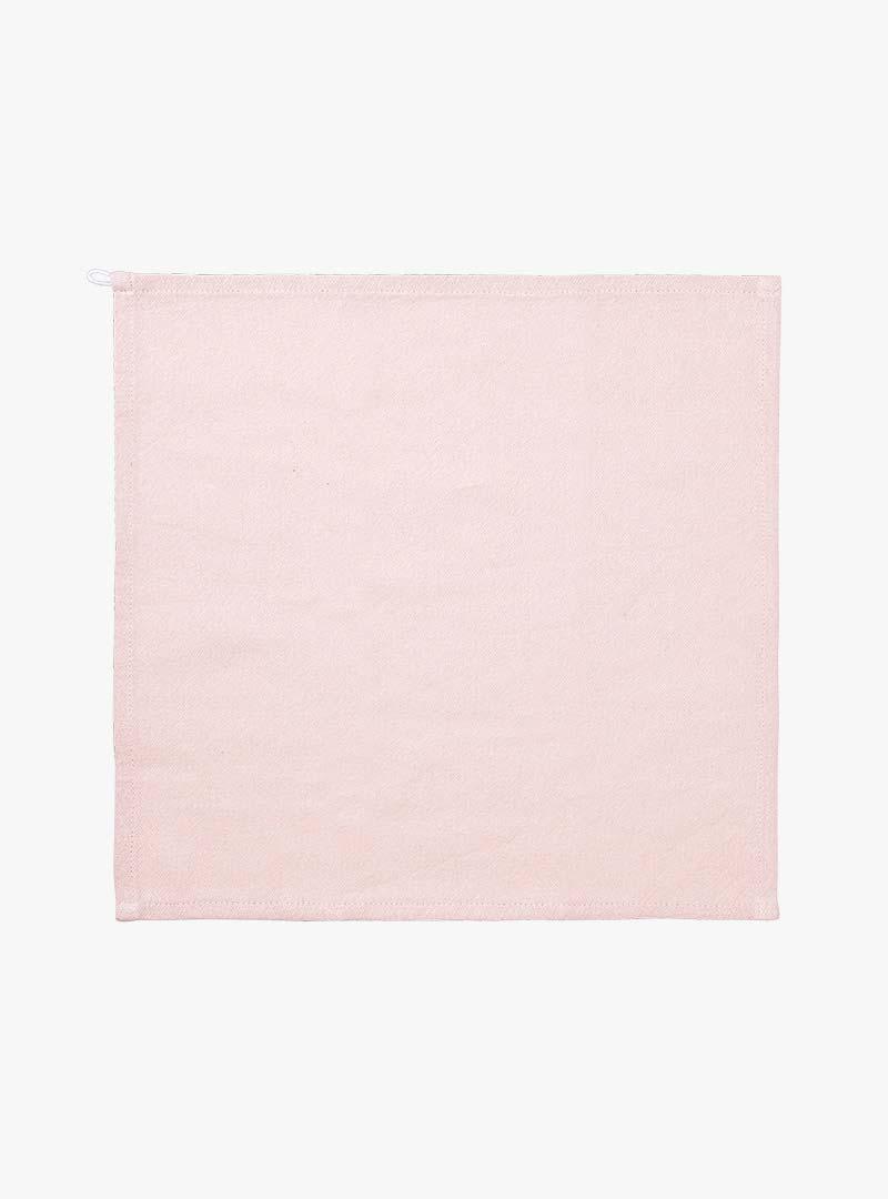 le tablier | ausgebreitetes rosa Abtrockentuch