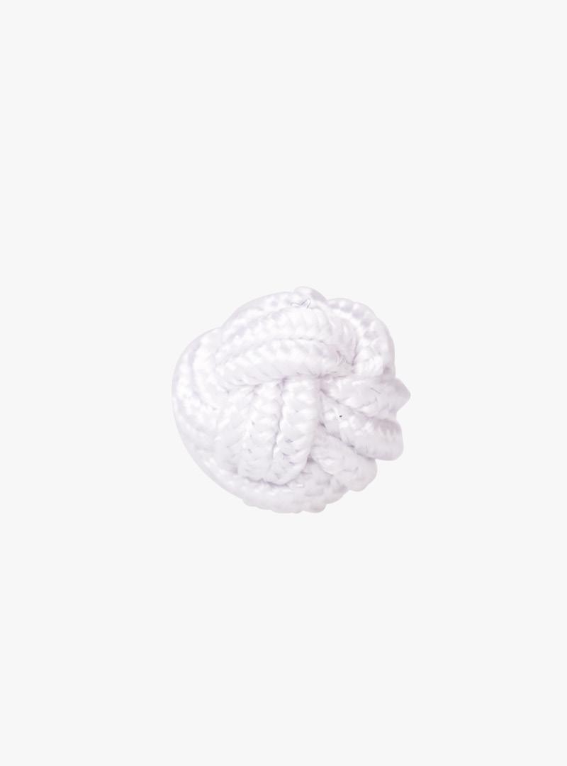 le tablier | Frontalansicht eines weißen Seidenknotens