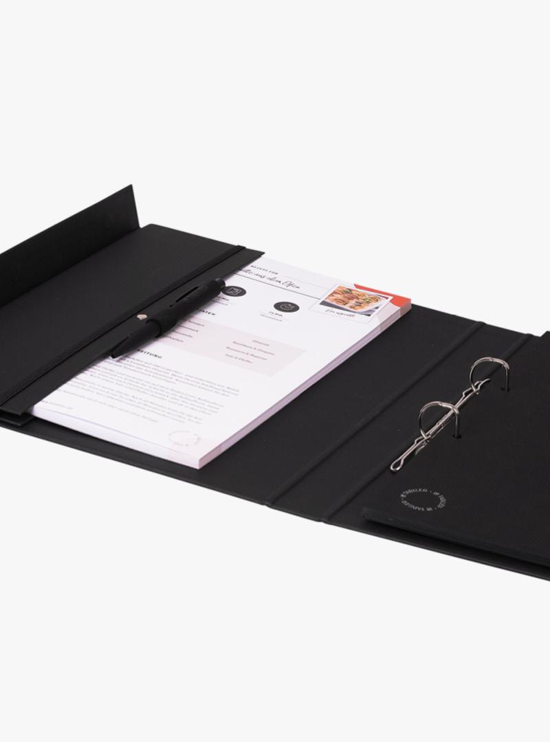 le tablier | schwarzes Ringbuch mit passendem Block und Stift