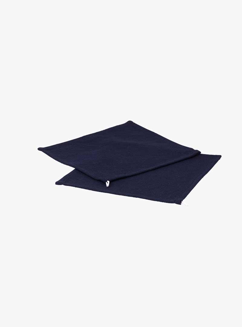 le tablier | zwei dunkelblaue Abtrockentücher mit weißer Schlaufe