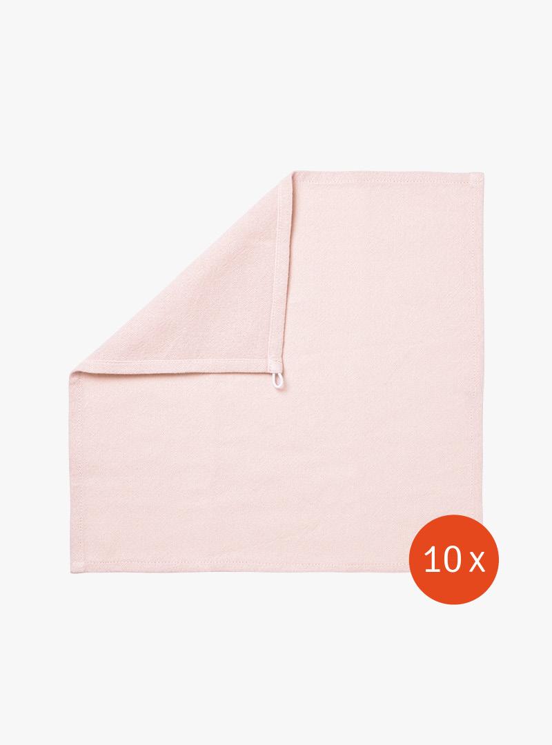 le tablier | rosa Abtrockentuch mit umgeschlagener Ecke