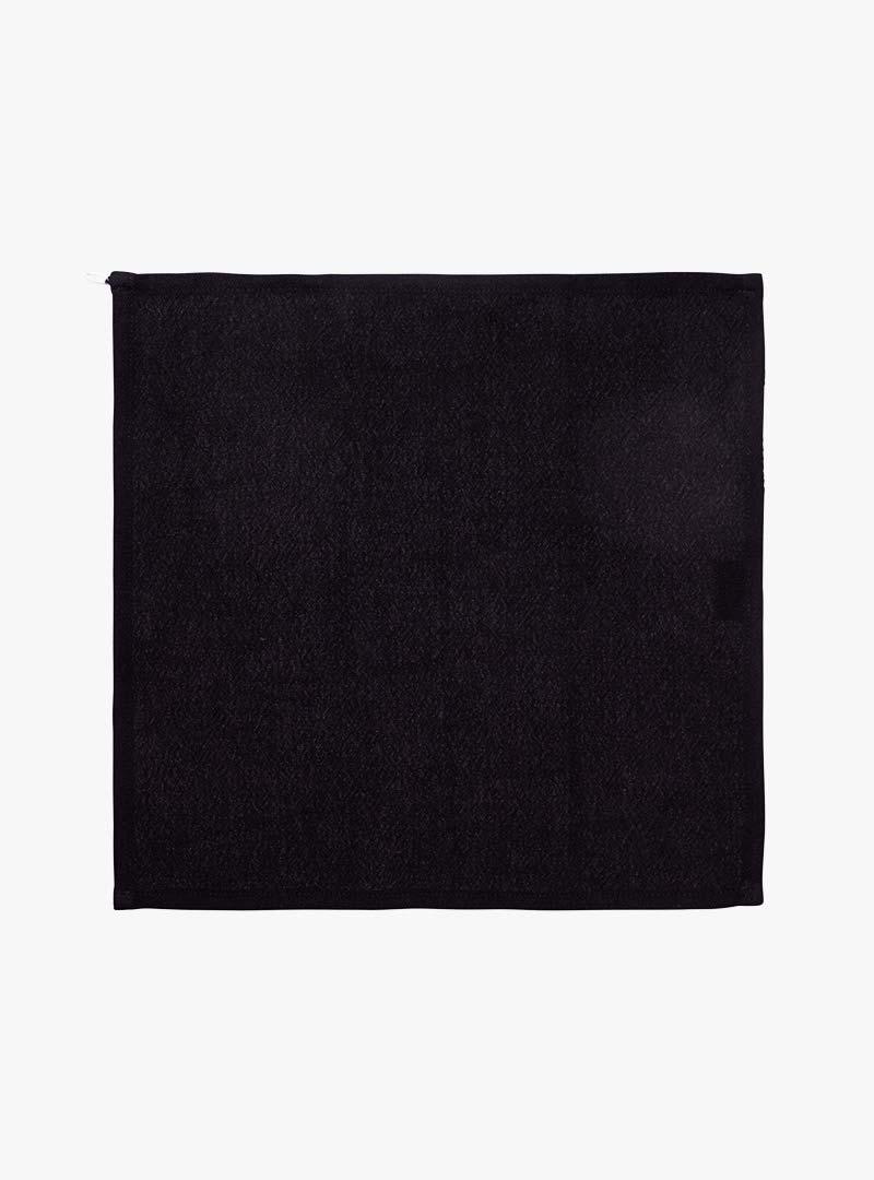 le tablier | schwarzes Abtrockentuch in quadratischer Form