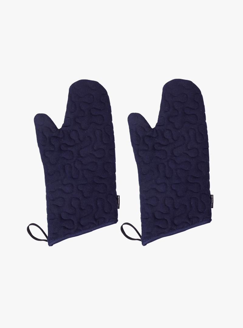 le tablier | dunkelblaue Ofenhandschuhe mit Schlaufen