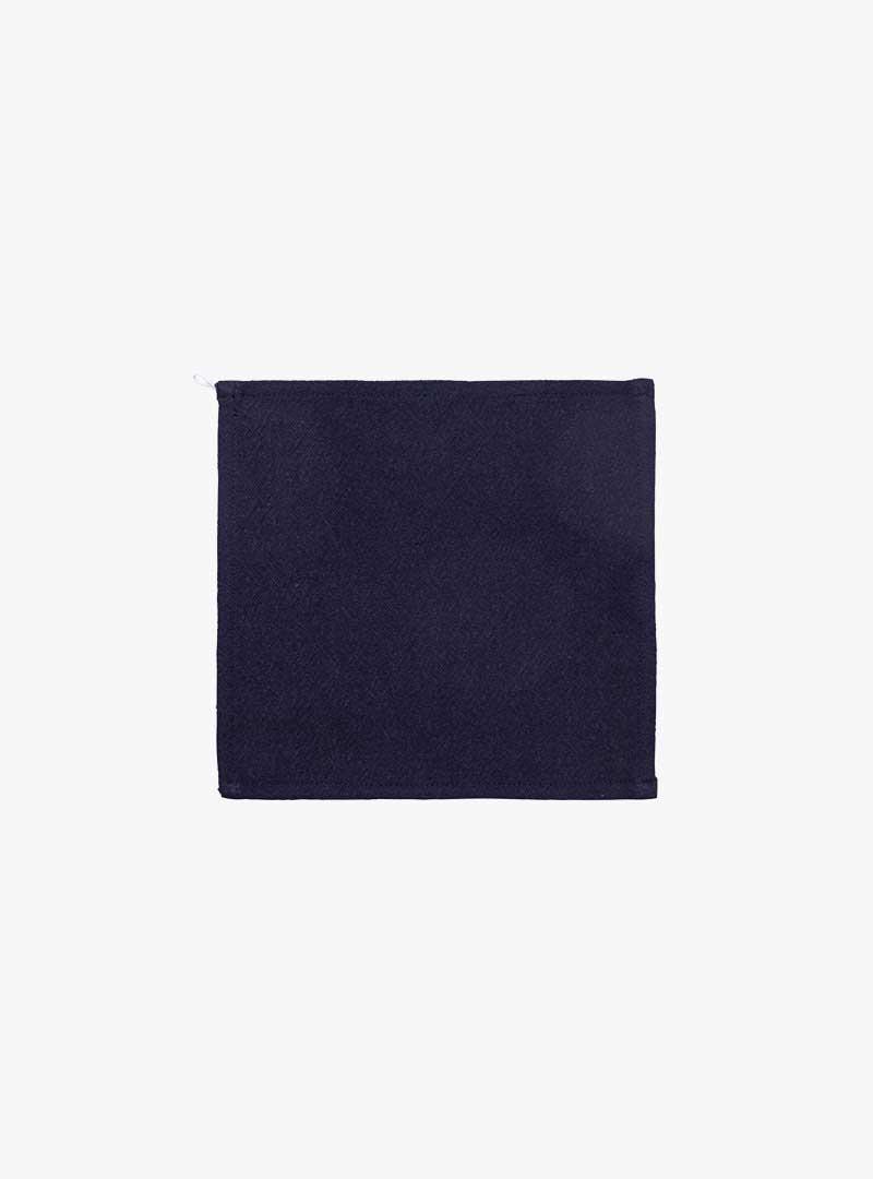 le tablier | Frontalansicht eines navy-blauen Tuch zum Abtrocknen
